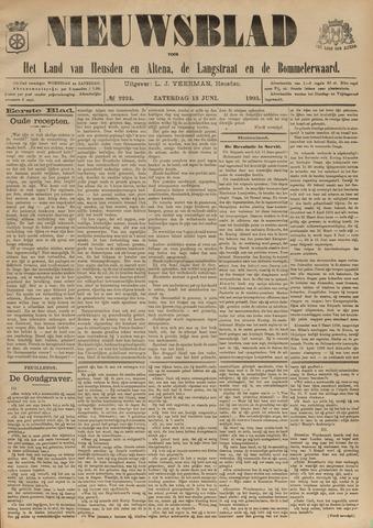 Nieuwsblad het land van Heusden en Altena de Langstraat en de Bommelerwaard 1903-06-13