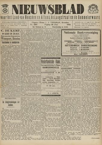 Nieuwsblad het land van Heusden en Altena de Langstraat en de Bommelerwaard 1923-06-29