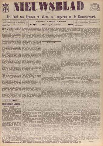 Nieuwsblad het land van Heusden en Altena de Langstraat en de Bommelerwaard 1909-02-24
