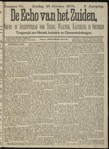 Echo van het Zuiden 1878-10-20