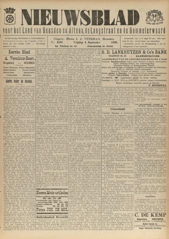 Nieuwsblad het land van Heusden en Altena de Langstraat en de Bommelerwaard 1925-09-04