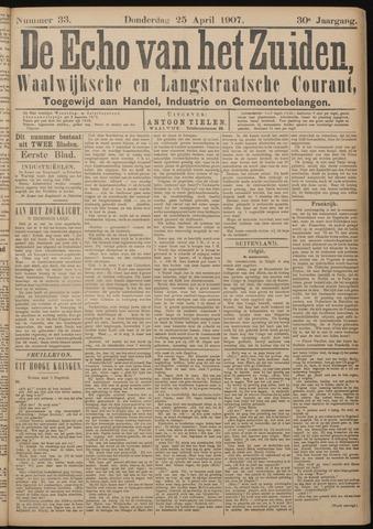 Echo van het Zuiden 1907-04-25