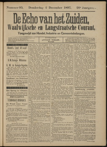 Echo van het Zuiden 1897-12-05