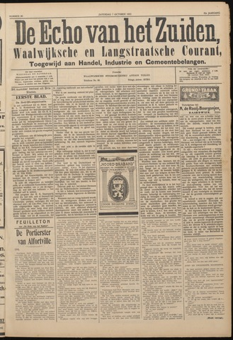Echo van het Zuiden 1922-10-07