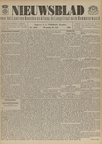 Nieuwsblad het land van Heusden en Altena de Langstraat en de Bommelerwaard 1921-07-20