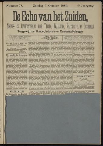 Echo van het Zuiden 1886-10-03