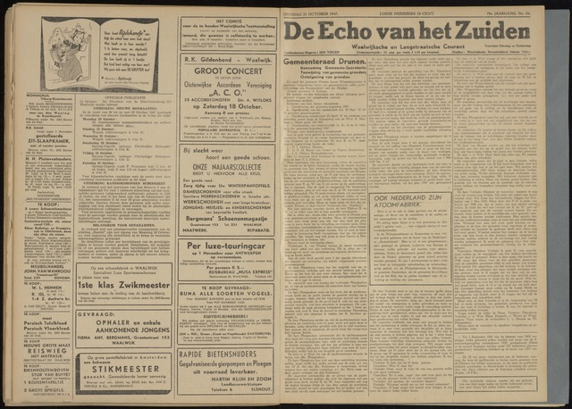 Echo van het Zuiden 1947-10-21