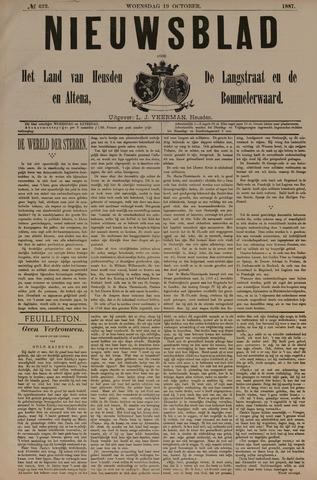 Nieuwsblad het land van Heusden en Altena de Langstraat en de Bommelerwaard 1887-10-19
