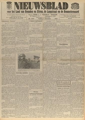 Nieuwsblad het land van Heusden en Altena de Langstraat en de Bommelerwaard 1943-11-05