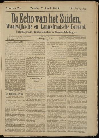 Echo van het Zuiden 1895-04-07