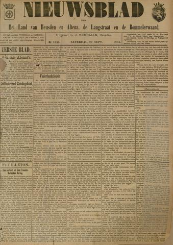 Nieuwsblad het land van Heusden en Altena de Langstraat en de Bommelerwaard 1894-09-29