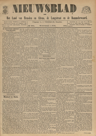Nieuwsblad het land van Heusden en Altena de Langstraat en de Bommelerwaard 1904-06-01