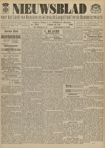 Nieuwsblad het land van Heusden en Altena de Langstraat en de Bommelerwaard 1924-07-25