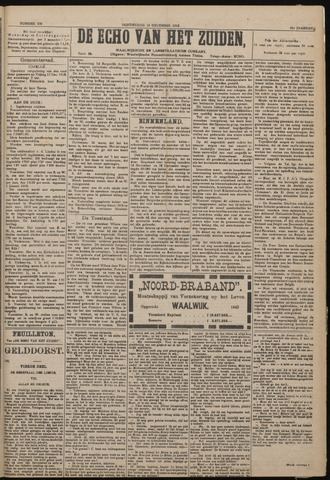 Echo van het Zuiden 1918-12-19