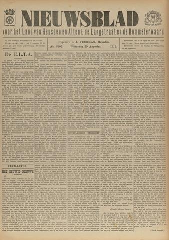 Nieuwsblad het land van Heusden en Altena de Langstraat en de Bommelerwaard 1919-08-20