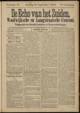 Echo van het Zuiden 1899-09-10