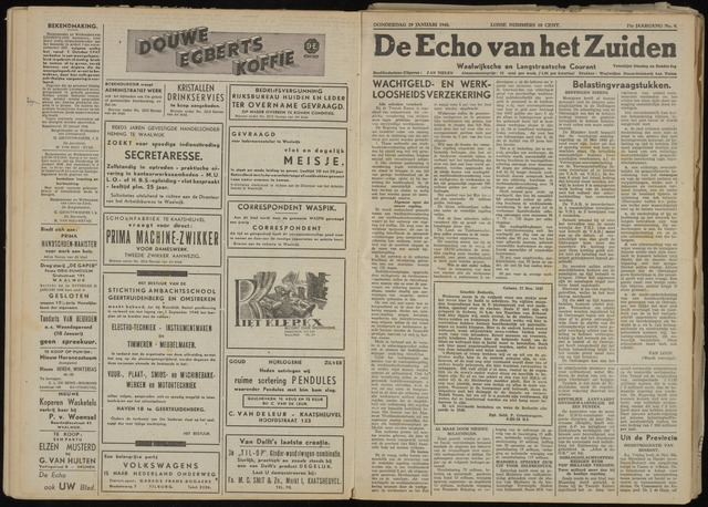Echo van het Zuiden 1948-01-29