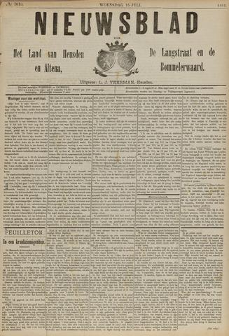 Nieuwsblad het land van Heusden en Altena de Langstraat en de Bommelerwaard 1891-07-15