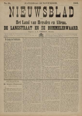 Nieuwsblad het land van Heusden en Altena de Langstraat en de Bommelerwaard 1881-11-26