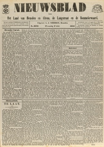 Nieuwsblad het land van Heusden en Altena de Langstraat en de Bommelerwaard 1913-07-09