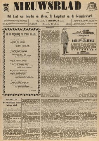 Nieuwsblad het land van Heusden en Altena de Langstraat en de Bommelerwaard 1913-04-30