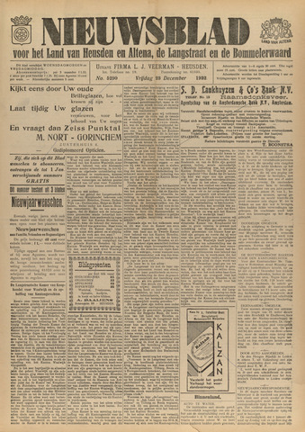 Nieuwsblad het land van Heusden en Altena de Langstraat en de Bommelerwaard 1932-12-23