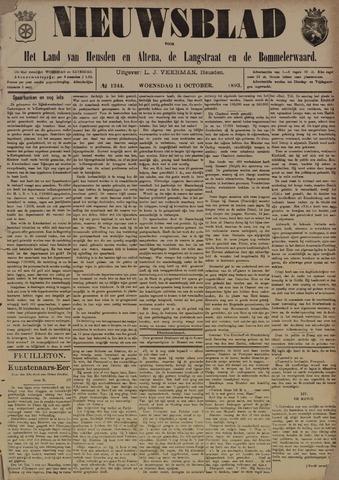 Nieuwsblad het land van Heusden en Altena de Langstraat en de Bommelerwaard 1893-10-11