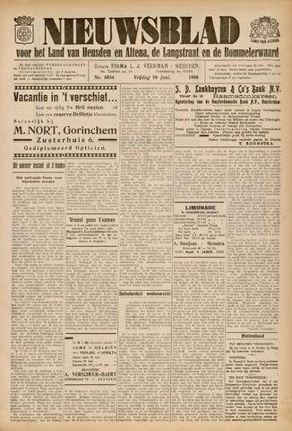 Nieuwsblad het land van Heusden en Altena de Langstraat en de Bommelerwaard 1936-06-26