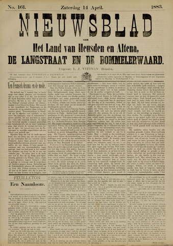 Nieuwsblad het land van Heusden en Altena de Langstraat en de Bommelerwaard 1883-04-14