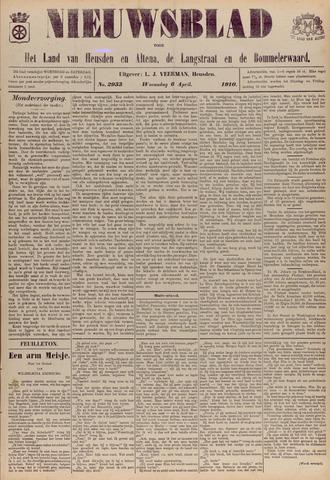 Nieuwsblad het land van Heusden en Altena de Langstraat en de Bommelerwaard 1910-04-06