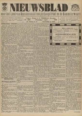 Nieuwsblad het land van Heusden en Altena de Langstraat en de Bommelerwaard 1925-04-01