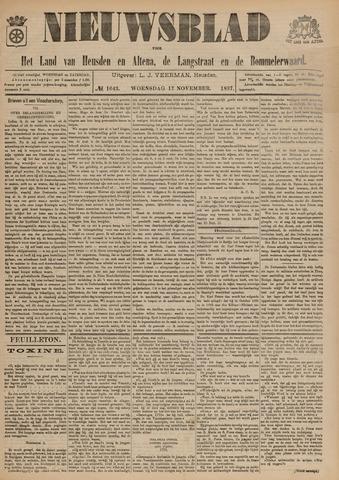 Nieuwsblad het land van Heusden en Altena de Langstraat en de Bommelerwaard 1897-11-17