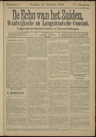 Echo van het Zuiden 1894-01-21