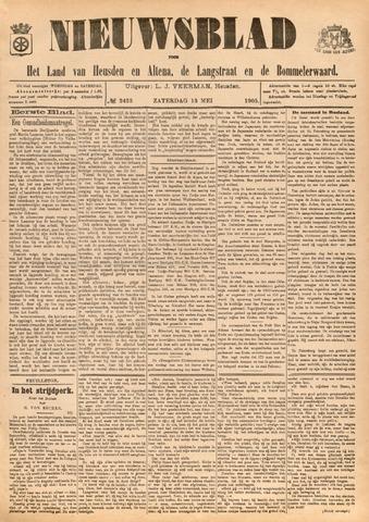 Nieuwsblad het land van Heusden en Altena de Langstraat en de Bommelerwaard 1905-05-13