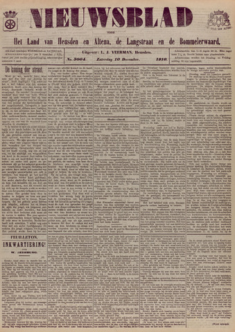 Nieuwsblad het land van Heusden en Altena de Langstraat en de Bommelerwaard 1910-12-10