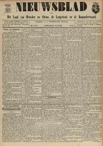 Nieuwsblad het land van Heusden en Altena de Langstraat en de Bommelerwaard 1893-06-24
