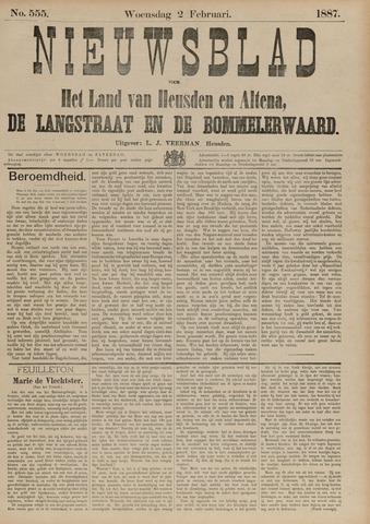 Nieuwsblad het land van Heusden en Altena de Langstraat en de Bommelerwaard 1887-02-02