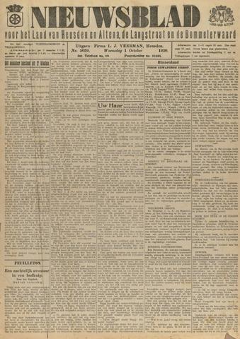 Nieuwsblad het land van Heusden en Altena de Langstraat en de Bommelerwaard 1930-10-01