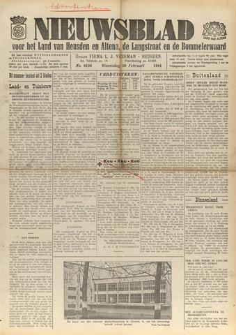 Nieuwsblad het land van Heusden en Altena de Langstraat en de Bommelerwaard 1941-02-26