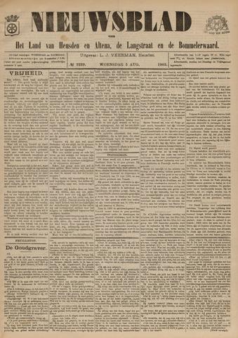 Nieuwsblad het land van Heusden en Altena de Langstraat en de Bommelerwaard 1903-08-05