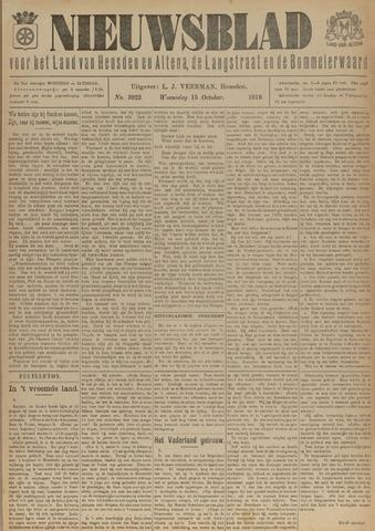Nieuwsblad het land van Heusden en Altena de Langstraat en de Bommelerwaard 1919-10-15