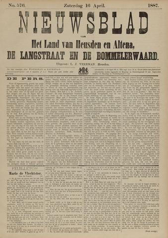 Nieuwsblad het land van Heusden en Altena de Langstraat en de Bommelerwaard 1887-04-16