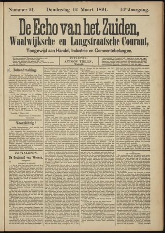Echo van het Zuiden 1891-03-12