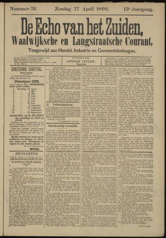 Echo van het Zuiden 1892-04-17