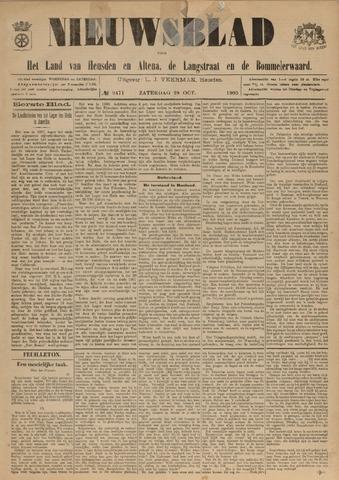 Nieuwsblad het land van Heusden en Altena de Langstraat en de Bommelerwaard 1905-10-28