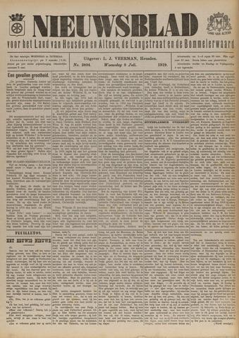 Nieuwsblad het land van Heusden en Altena de Langstraat en de Bommelerwaard 1919-07-09