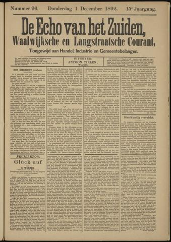 Echo van het Zuiden 1892-12-01