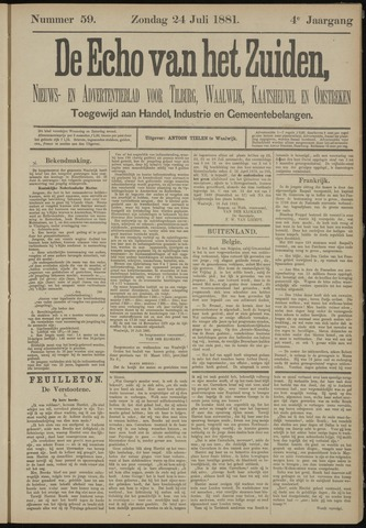 Echo van het Zuiden 1881-07-24