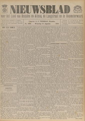 Nieuwsblad het land van Heusden en Altena de Langstraat en de Bommelerwaard 1918-08-14