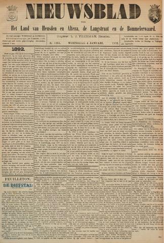 Nieuwsblad het land van Heusden en Altena de Langstraat en de Bommelerwaard 1893-01-04